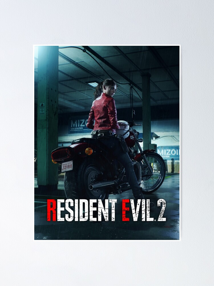 Resident Evil 2 Remake Claire Poster By Robcyko Redbubble