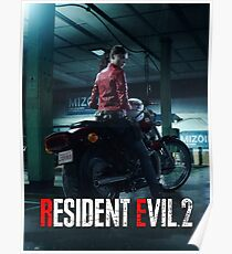 RESIDENT EVIL 2 REMAKE - CLAIRE Poster