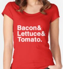Bacon & Lettuce & Tomato (dark shirts) Women's Fitted Scoop T-Shirt
