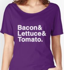 Bacon & Lettuce & Tomato (dark shirts) Women's Relaxed Fit T-Shirt