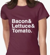 Bacon & Lettuce & Tomato (dark shirts) Women's Fitted T-Shirt