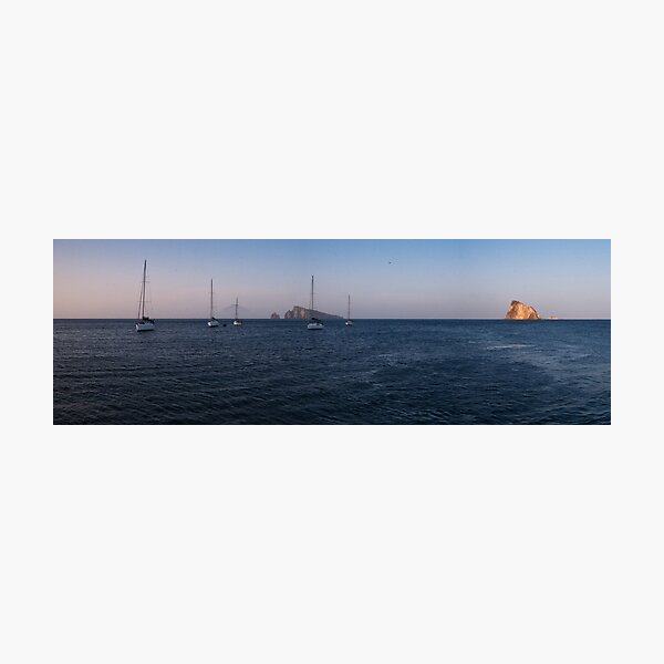 Dusk in the Aeolian Islands Photographic Print