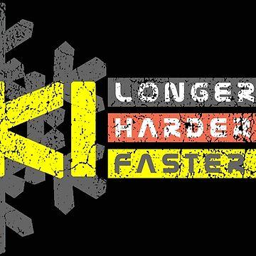 Ski Longer Harder Faster - German Colors | Ski Designs | DopeyArt by DopeyArt