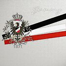 German Empire Eagle 1871 with Flag Colors by edsimoneit