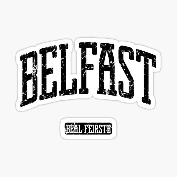 Belfast Northern Ireland (Black Print) Sticker