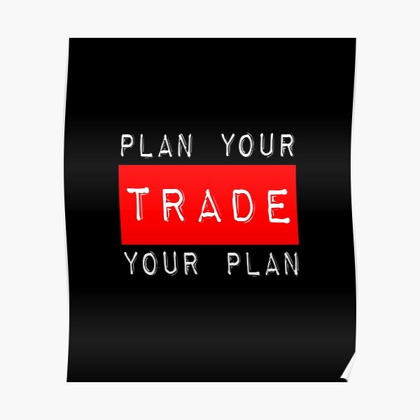Plan Your Trade Your Plan Poster