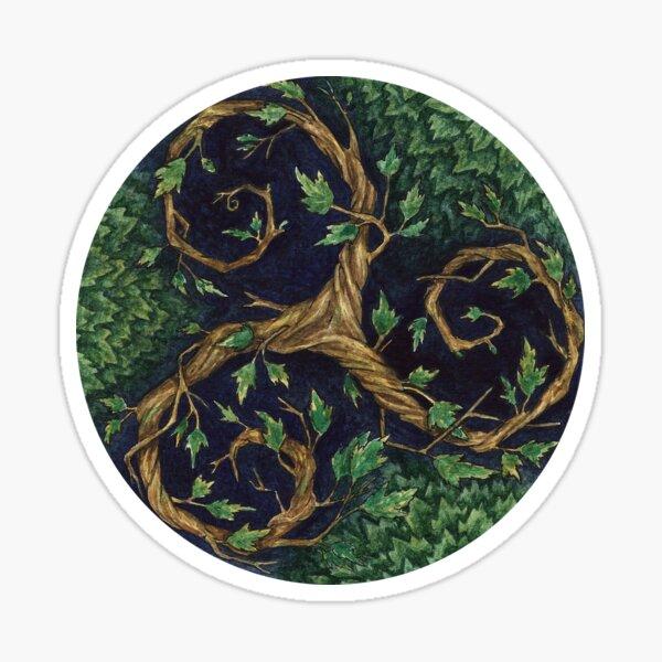 Wald Triskel Aquarell Sticker