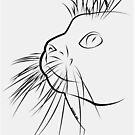 Line Art Katze von Destroyed-Pixel