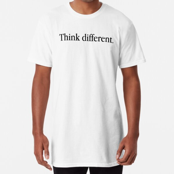 Think Different Vintage Apple Slogan Long T-Shirt