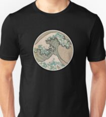 The great wave - Awesome Round design T-Shirt