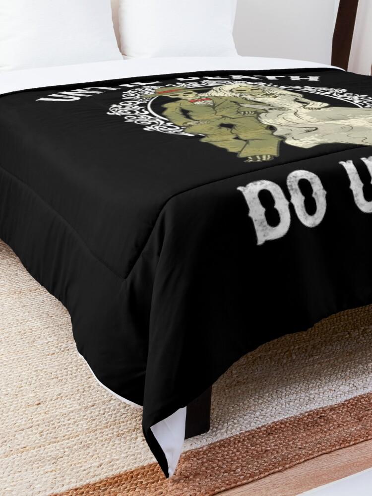 Alternate view of Skeleton Couple Until Death Do Us Part Wedding Bride Groom  Comforter