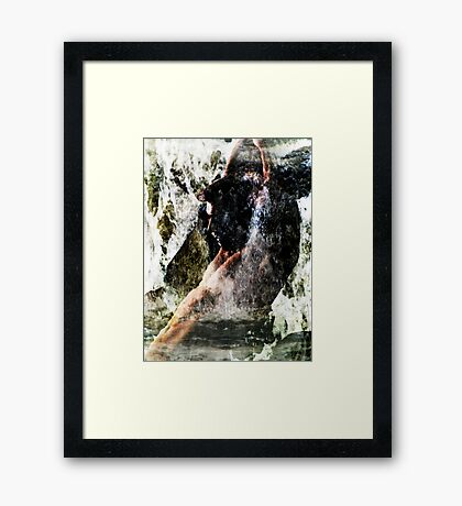 Rising Above The Surface Framed Print
