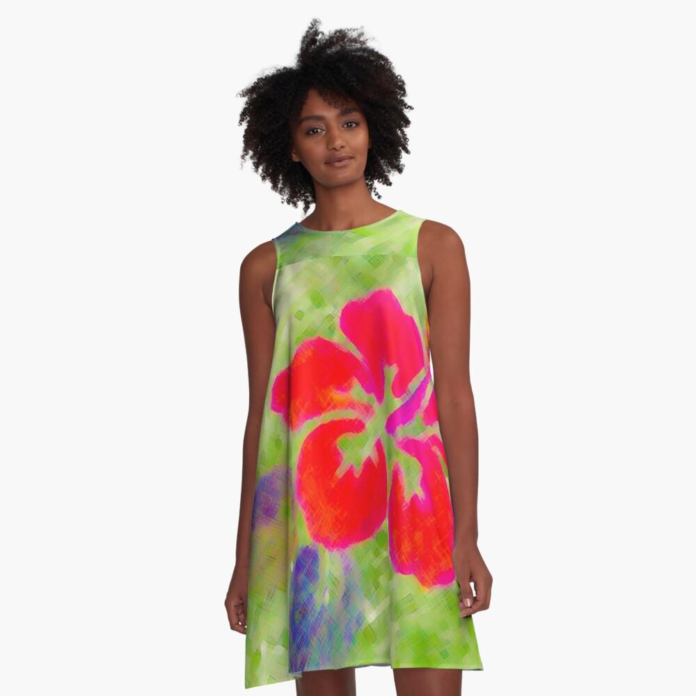 Pila Fashion Design - Hibiscus Series A-Line Dress Front
