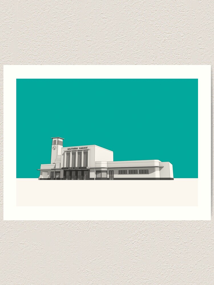 Alternate view of Surbiton Station Art Print