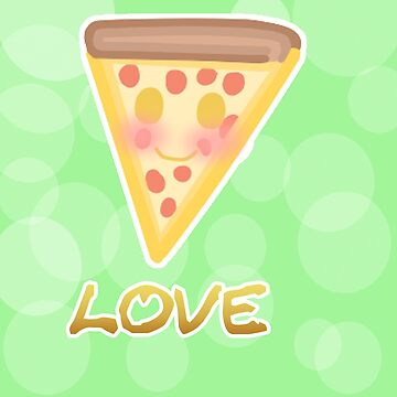 Kawaii Pizza by mikistarlight