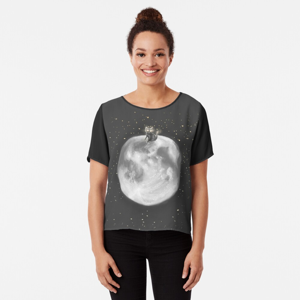 Lost in a Space / Moonelsh Chiffon Top