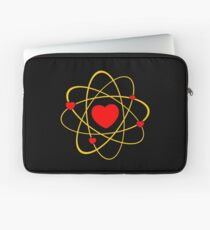 Atoms heart love positive energy Laptop Sleeve