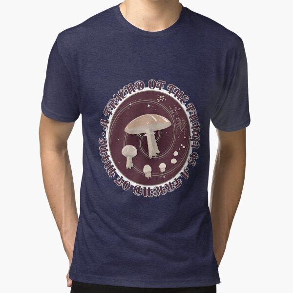 A Friend of the Fungi is a Friend of Mine, Mushroom Life Cycle design. Tri-blend T-Shirt