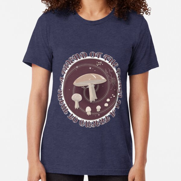 A Friend of the Fungi is a Friend of Mine, Mushroom Life Cycle design. Tri-blend T-Shirt