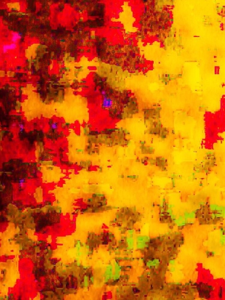 Pila Fashion Design - Yellow & Red - Abstract by HawaiiArthst