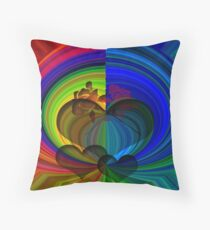 Colors Of Love.. Throw Pillow
