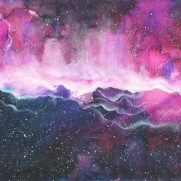 Space Watercolor multicolored pattern by ApeTown
