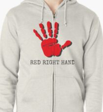 Red Right Hand Nick Cave Zipped Hoodie
