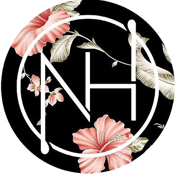 niall pink black flower logo by abries