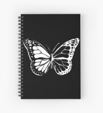 Monarch Butterfly -Black and White Spiral Notebook