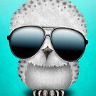 Nette Baby-Eulen-tragende Sonnenbrille von jeff bartels