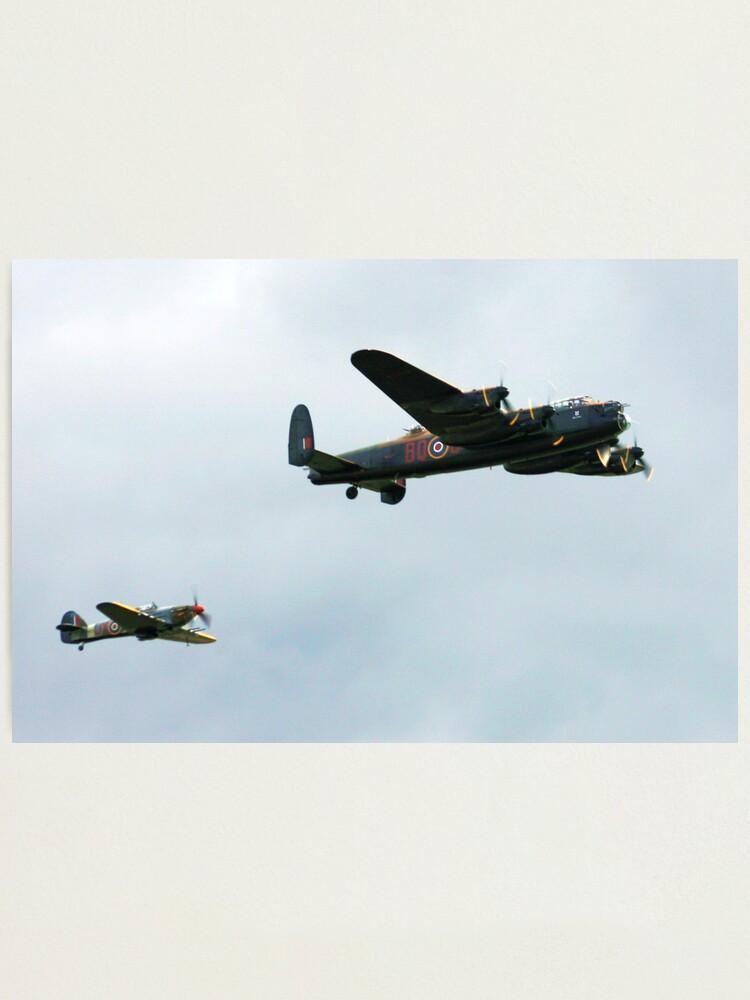 Alternate view of Lancaster with Hurricane escort Photographic Print