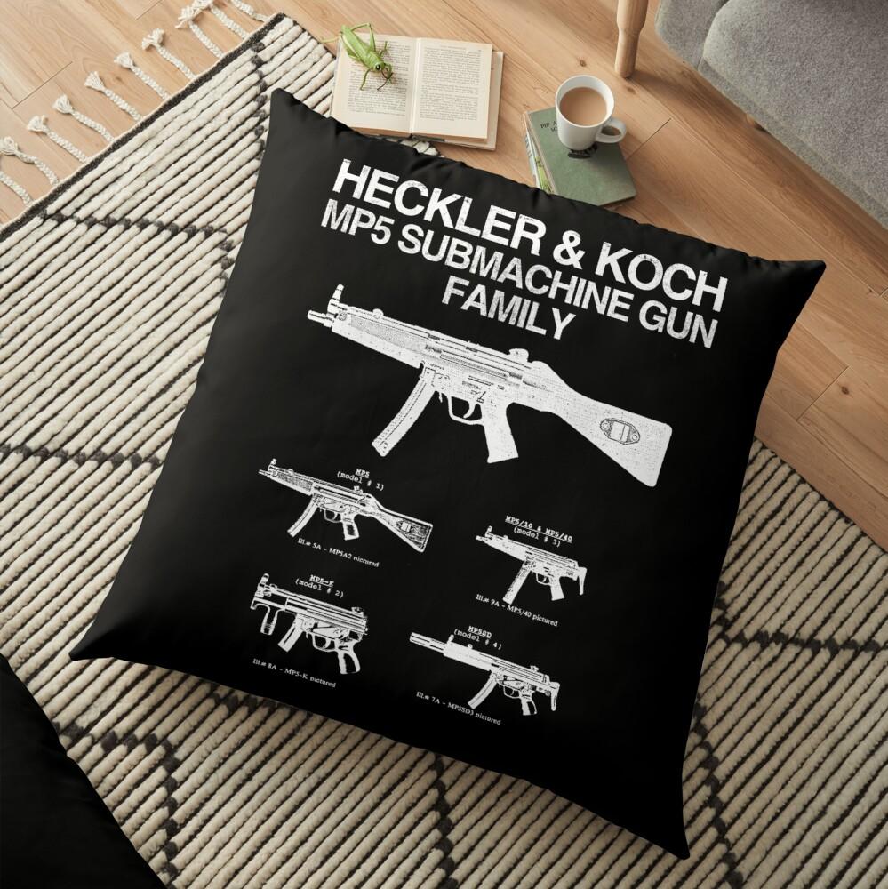 MP5 SUBMACHINE GUN FAMILY Floor Pillow