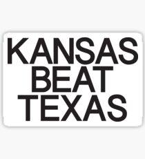 Kansas Beat Texas Sticker