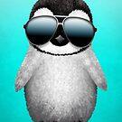 Nette tragende Sonnenbrille des Baby-Pinguins von jeff bartels
