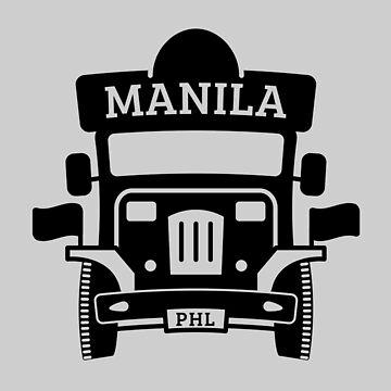 Jeepney (Black) - Manila Philippines by AKandCo