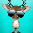 Nettes Baby-Ren-tragende Sonnenbrille von jeff bartels