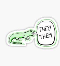 The They/Them Lizard Sticker