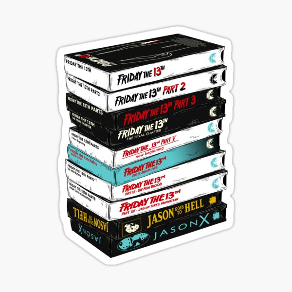 Friday the 13th VHS stack Sticker