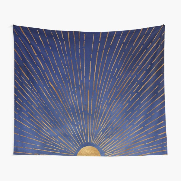 Indigo Sunset Tapestry