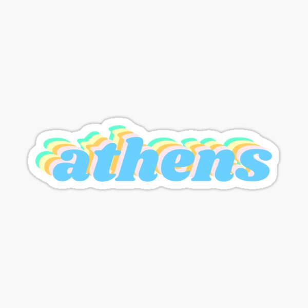 Athens Retro Sticker
