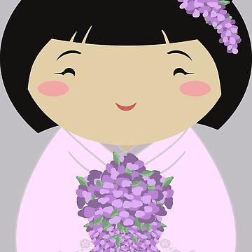 Kokeshi Wisteria Bride by thedustyphoenix