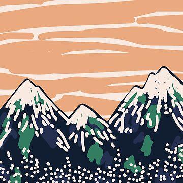 Montañas del atardecer de smalltownnc