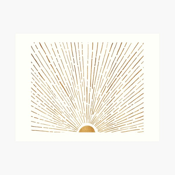 White Gold Sunset Art Print