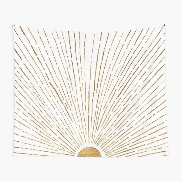White Gold Sunset Tapestry