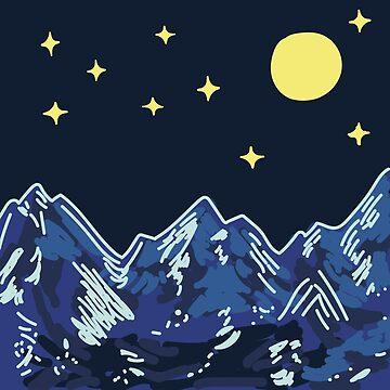 Montañas de observación de estrellas de smalltownnc