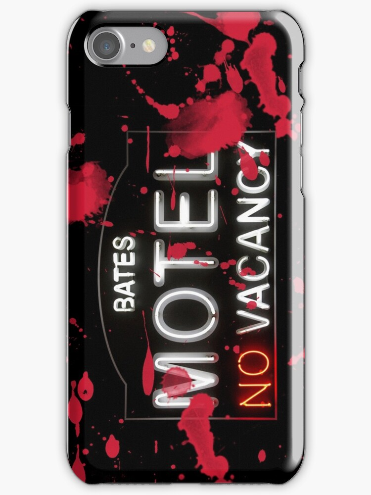 Bloody Bates Motel - iPhone Case by Bryan Freeman