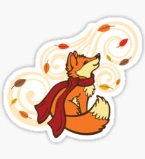 Autumn Fox Sticker