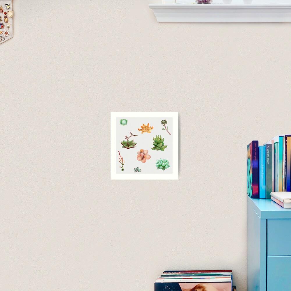 Bubbly Succulents Art Print
