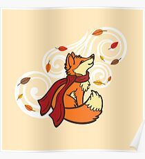 Autumn Fox Poster
