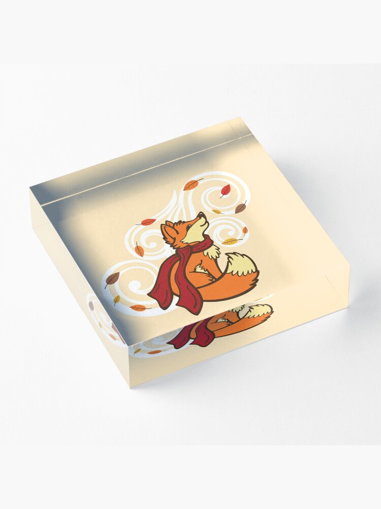 Alternate view of Autumn Fox Acrylic Block